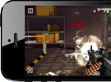 Battlefield Bad Company 2 action on iPhone