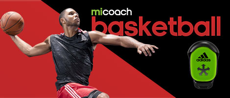 Adidas miCoach Basketball featuring SPEED_CELL connectivity for iPhone and iPad