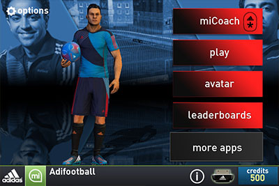 Adidas miCoach Soccer presented by Xavi Hernandez and featuring SPEED_CELL connectivity
