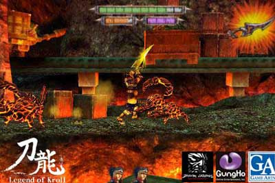 Toryu Legend of Kroll scrolling fighting game for iOS